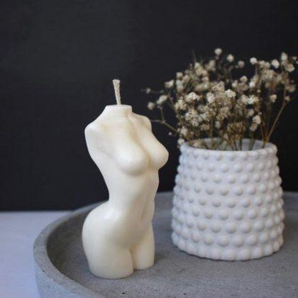 Female Torso Candle